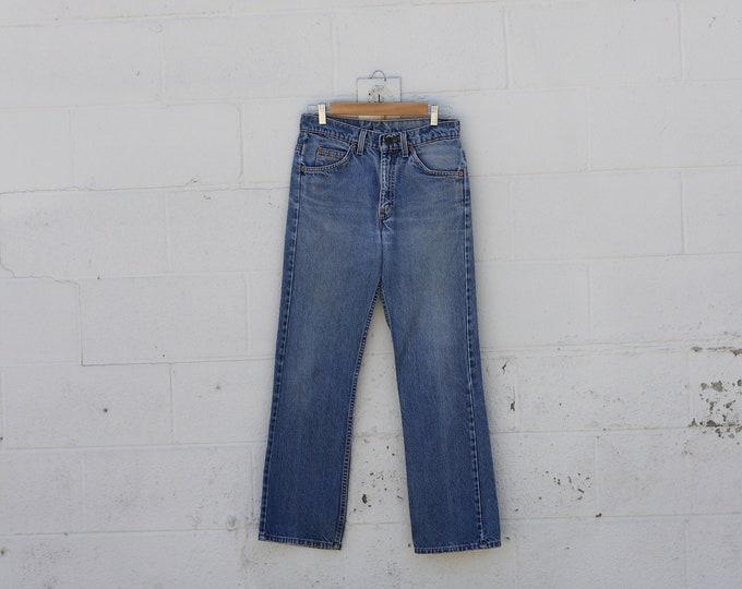 Vintage Levi's 517 Orange Tab Light Wash Denim Jeans Size 29x30 Made in USA