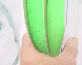 """hook + loop tape lime green both sides sew on Perfect brand 1"""" x 25yds 4532P."""