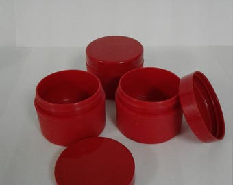 On sale - 20% off - 50 ml / 1.69 oz Red Containers with lids