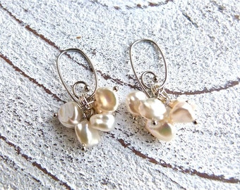 Keshi pearls earrings