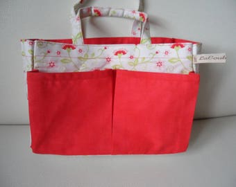 Handbag for girl flowers to take blanket, snack, or any other small treasures