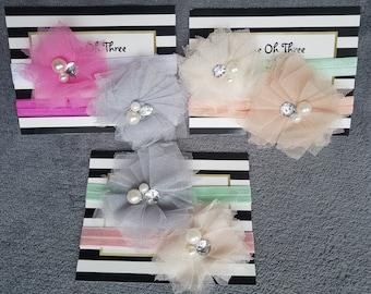 Newborn Tulle Headband Sets