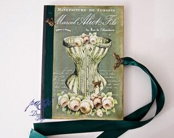 Nostalgic vintage style diary, journal, notebook, vintage - Shabby Chic diary, notebook, blank books