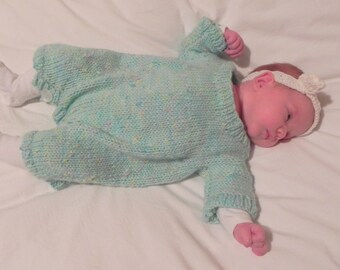 French Knit Baby Romper Pattern PDF
