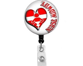 Nurse Midwife - Badge Reel Retractable ID Badge Holder