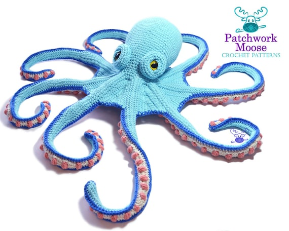 Octopus Crochet Pattern PDF Instant Download Claude