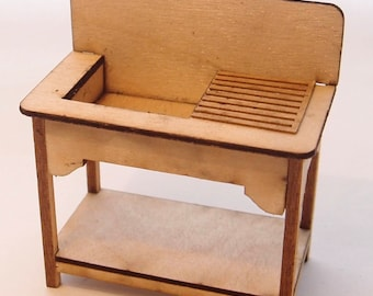 1:24 scale miniature dollhouse furniture kit English sink