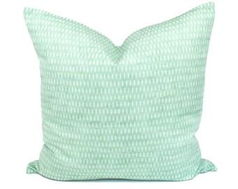 Green Dot, Printed, Linen, Cotton, Pillow Cover | 12x24, 20x20 | 'Isla'