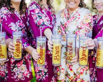 Personalized Tumbler Cup with Straw - Perfect for Bridesmaids, Teachers and Friends!