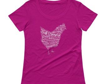 Chicken Breeds Ladies' Scoopneck T-Shirt