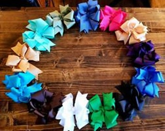 Triple Hairbow Boutique Style Bow