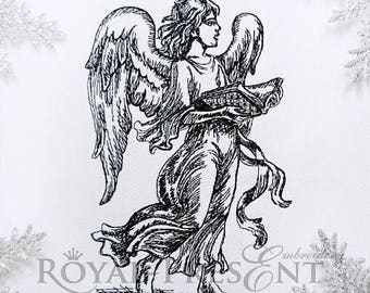 Christmas Machine Embroidery Design Singing Angel
