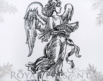 Christmas Machine Embroidery Design Singing Angel
