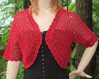 CREATE IT - Short Sleeve Bolero - Crochet Pattern - Instant Download, PDF