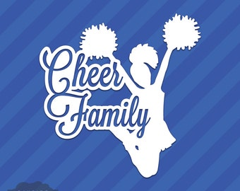 Cheer Family Vinyl Decal Sticker Cheerleading Squad Sports School Spirit