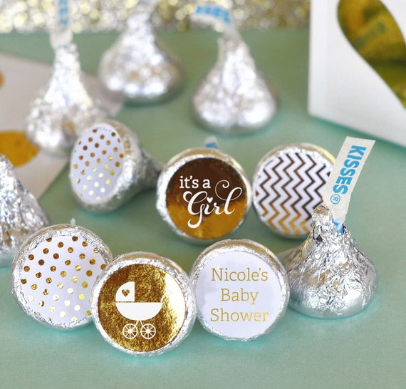 Baby shower hershey kiss sticker kiss labels personalized
