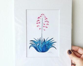 Cactus Matted Archival Print // Cactus Art // Cacti Art // Cactus Watercolor // Desert Art // Botanical Art // Home Decor