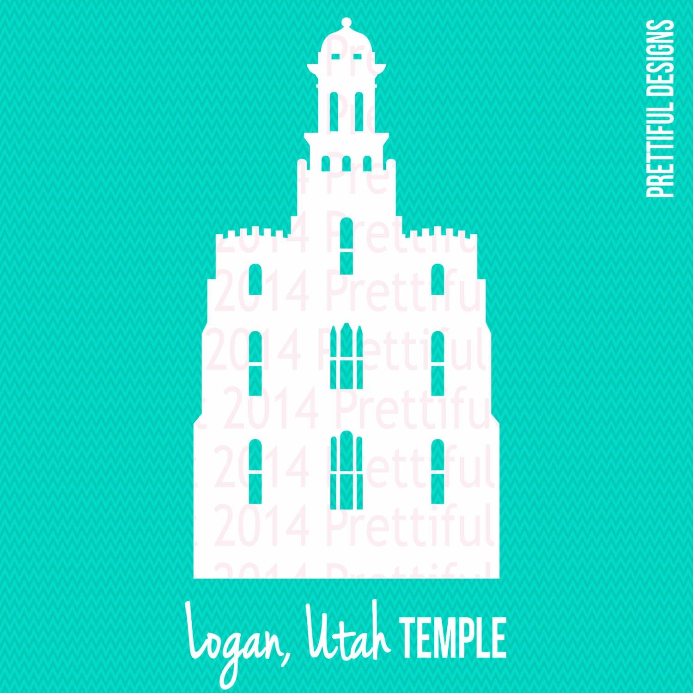 logan utah temple silhouette lds mormon clip art png eps svg rh etsy com lds temple clipart free lds temple clip art black and white