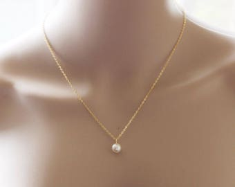 Pearl necklace etsy more colors bridesmaid gift pearl necklace aloadofball Gallery