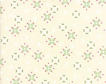 Jingle Birds Snowflakes on Cream from Keiki for Moda