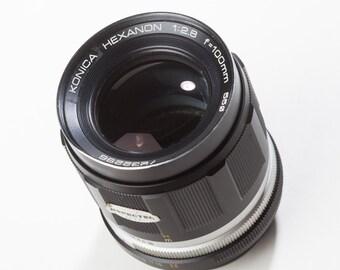 Konica Hexanon 100mm F2.8 vintage manual focus lens
