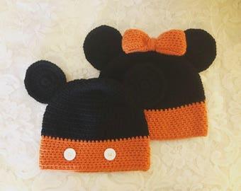 Halloween Mickey & Minnie Mouse Hats