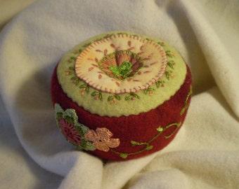 Merlot citron pincushion