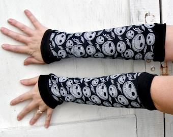 Jack Skellington bats Arm Warmer Gloves Nightmare Before Christmas