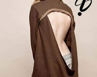 The VagaBond Hoodie- open back