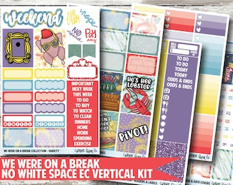 We Were On A Break Planner Stickers - No White Space Kit