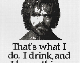 Tyrion Lannister Cross Stitch Pattern (PDF)
