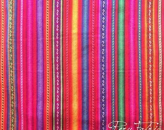 PERU FABRIC Striped Fuchsia  by meter Tribal Fabric,Ethnic Fabric,Cusco Fabric ,Home Decoration, Ethnic Blanket,Andean Textile