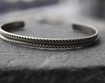 sterling Textured  Bangle bracelets,Layering stacking bangles,  Bangle bracelet, metalwork, open bangle, unisex bracelet