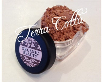 TERRA COTTA  BLUSH Organic Pretty matte peach Shade Organic Cosmetic Beauty Vegan Cruely Free