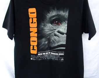 Congo Where You are the endangered Species 1995 Movie t-shirt cotton Size L