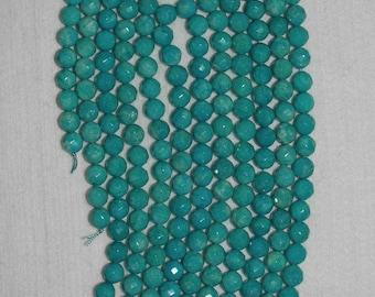 Amazonite, Amazonite Bead, Faceted Bead, Grade A, Gemstone Bead, Aqua Bead, Natural Stone, Semi Precious, Full Strand, 9 mm, AdrianasBeads