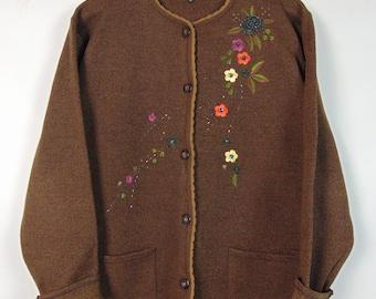 Vintage Brown Cardigan