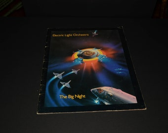 Program, Electric Light Orchestra, The Big Night Tour, 1977, 32 pages, memorabilia, 1970, Out Of The Blue Tour, Jeff Lynne, Vintage