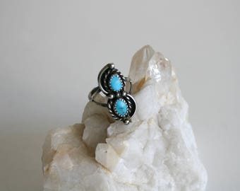 Sleeping Beauty Turquoise Sterling Ring 7