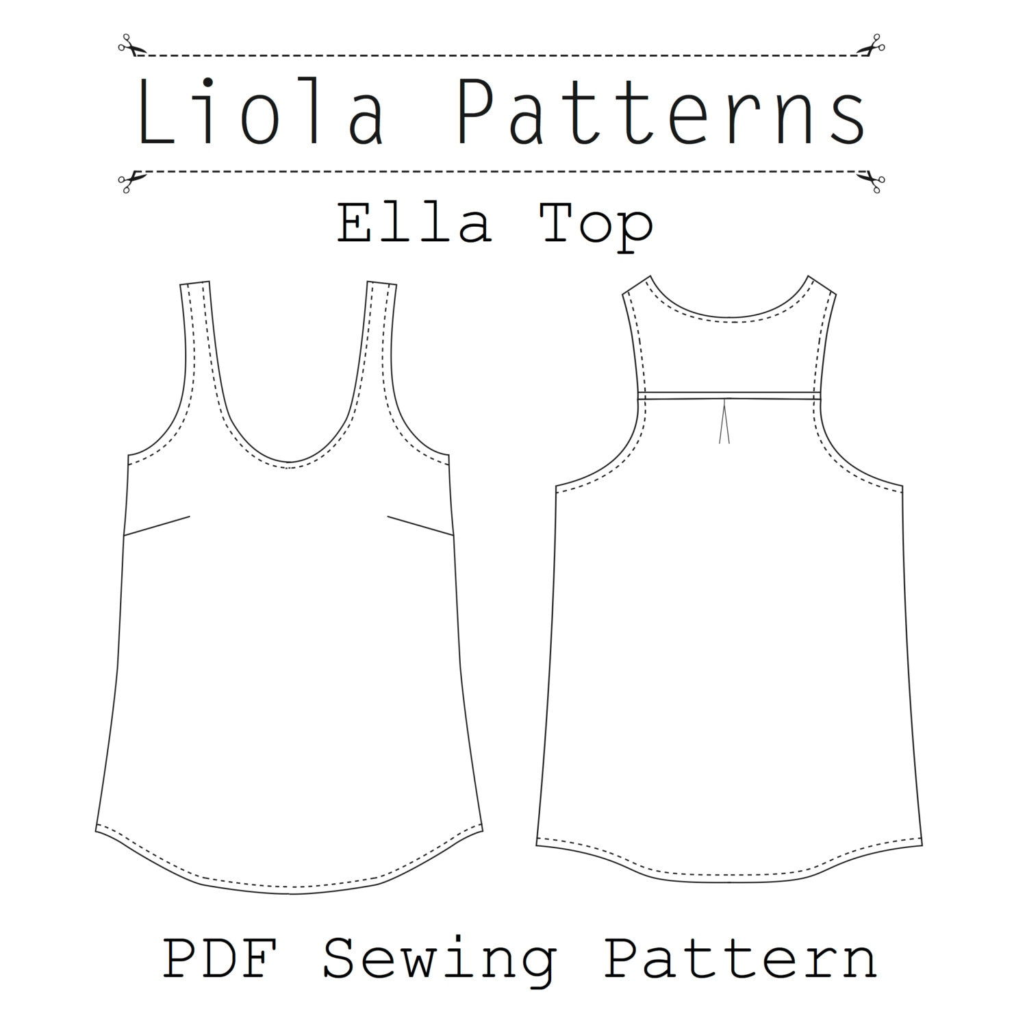 Ella top pdf sewing pattern zoom jeuxipadfo Image collections