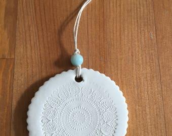 Mandala Clay Ornament