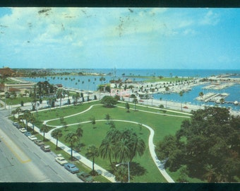 St Petersburg Florida Municipal Pier Area 1971 Photo Postcard (20661)