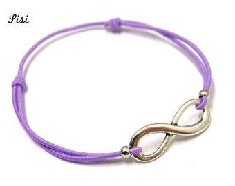 Bracelet mauve infinity