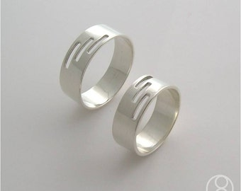 Sterling Silver Band with 3 slits