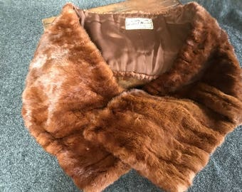 Gorgeous vintage fur collar wrap