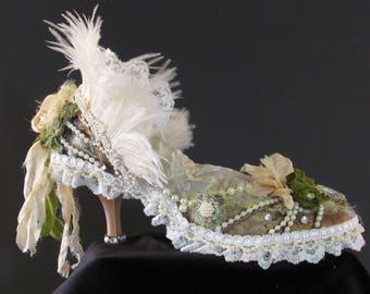 Victorian/ Shabby Chic Shoe Pin Cushion