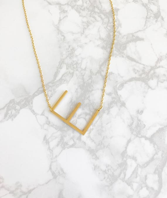 Large initial necklace initial necklace big initial aloadofball Images
