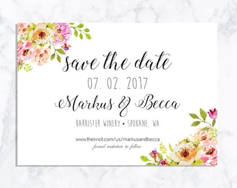 DIGITAL Floral Save the date