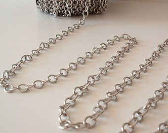 10 Ft Large Links Cross Chain, Platinum Color Plated Iron, Jewelry making supply