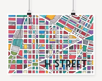 H Street Neighborhood Map